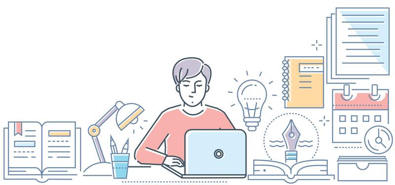 content development illustration