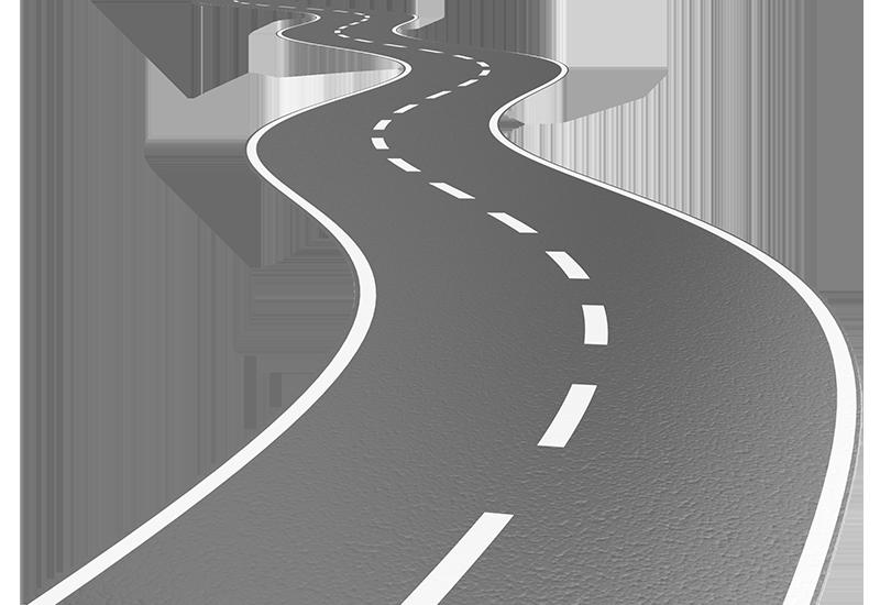 winding road illustration