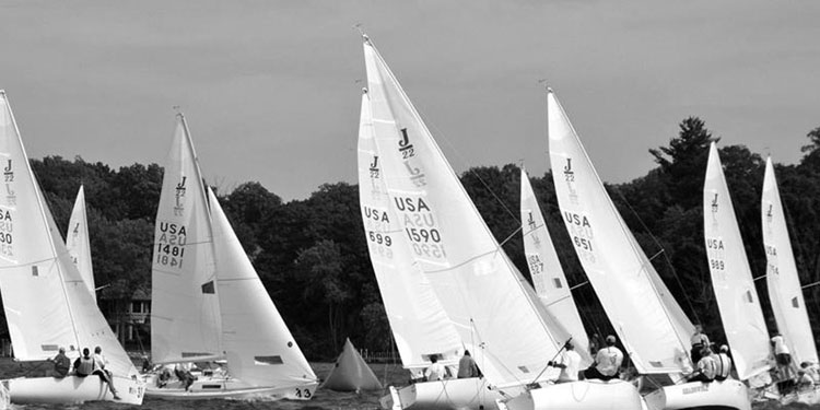 sailboats strategizing for position in a race