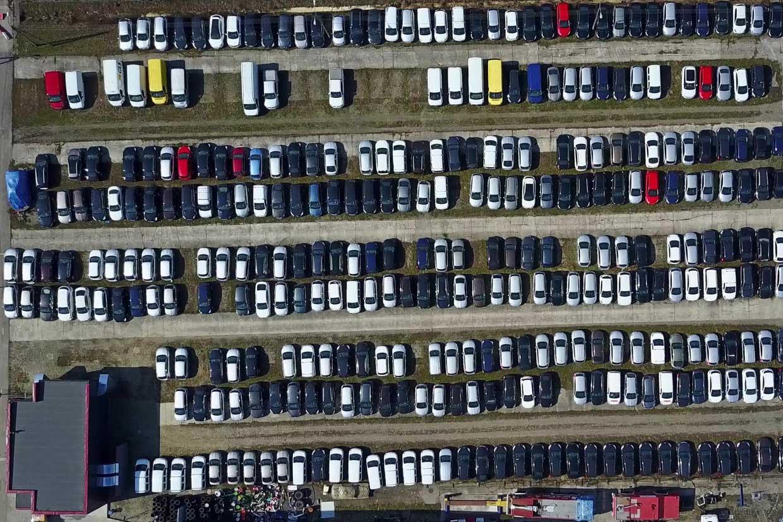 New car storage lot